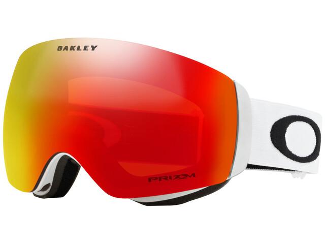 Oakley Flight Deck XM Gafas de esquí Mujer, matte white/w prizm torch iridium